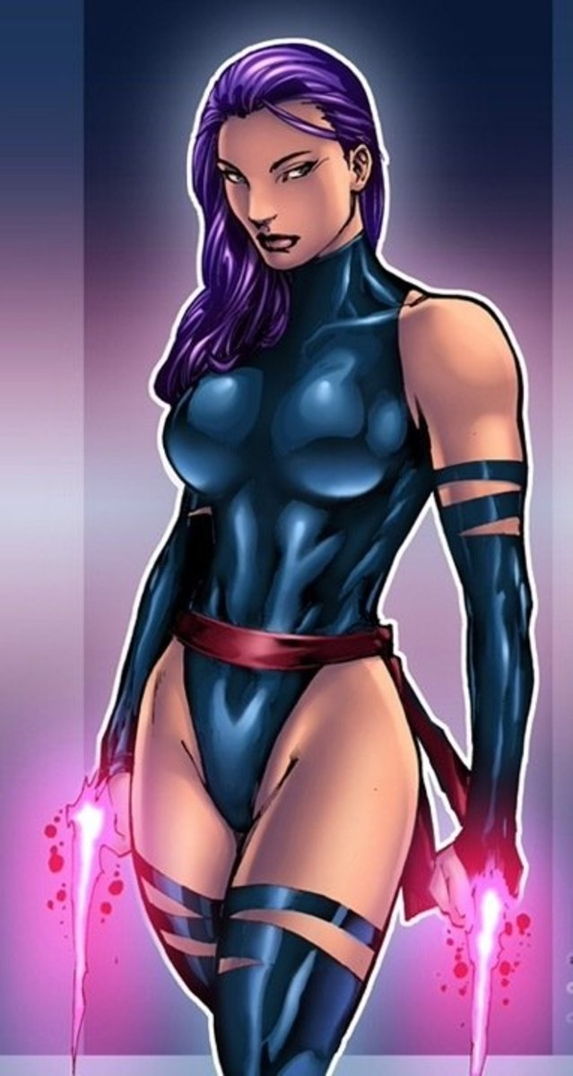 Artistic rendering of Psylocke.