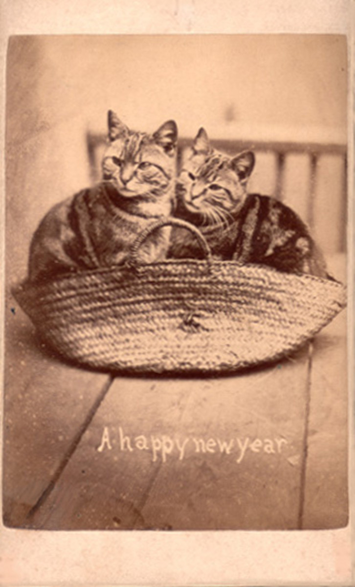 This vintage postcard is from the 1870's!  What an interesting old card.