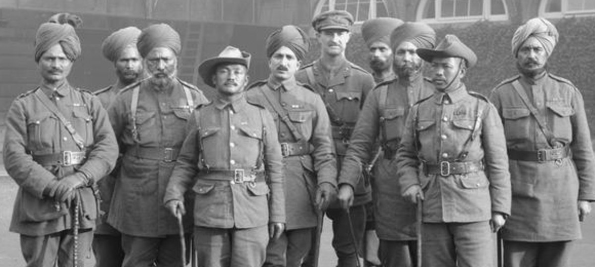 cross section of Indian soldier in WWI