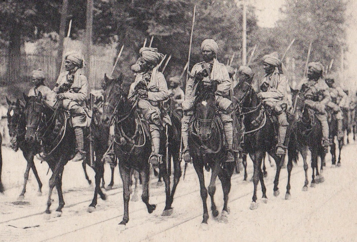 Indian cavalry in WWI