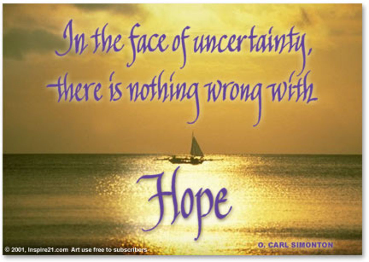 Even in the greatest depression, there is Hope!