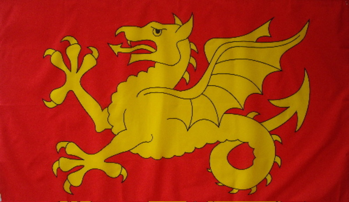 Wessex Wyvern, Harold's main banner. His 'Fighting Man' banner was sent as a memento to the Pontiff Alexander in Rome. It's still there.