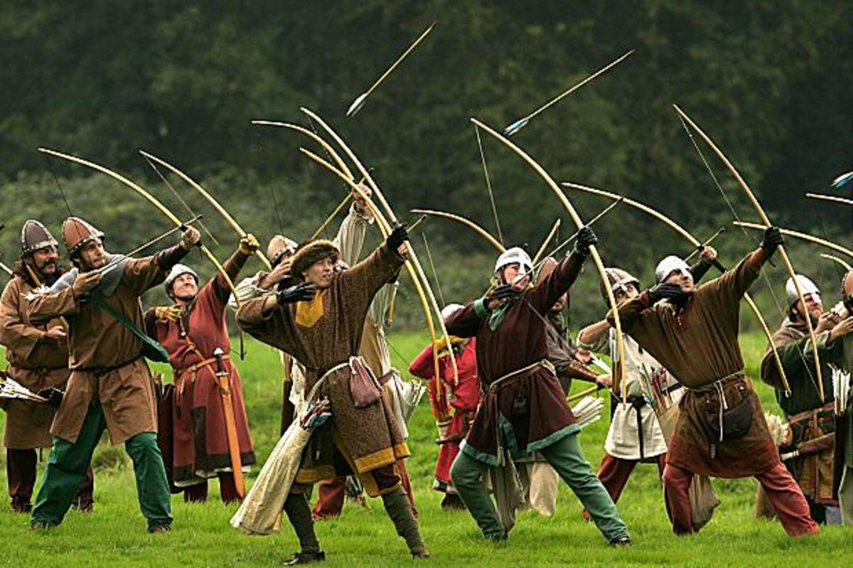 Norman archers. Both the Norman and Flemish contingents with William's force had their own archers - more than Harold had in the south. Many of those who fought in the north were unable to follow south, or it would have been a different story...
