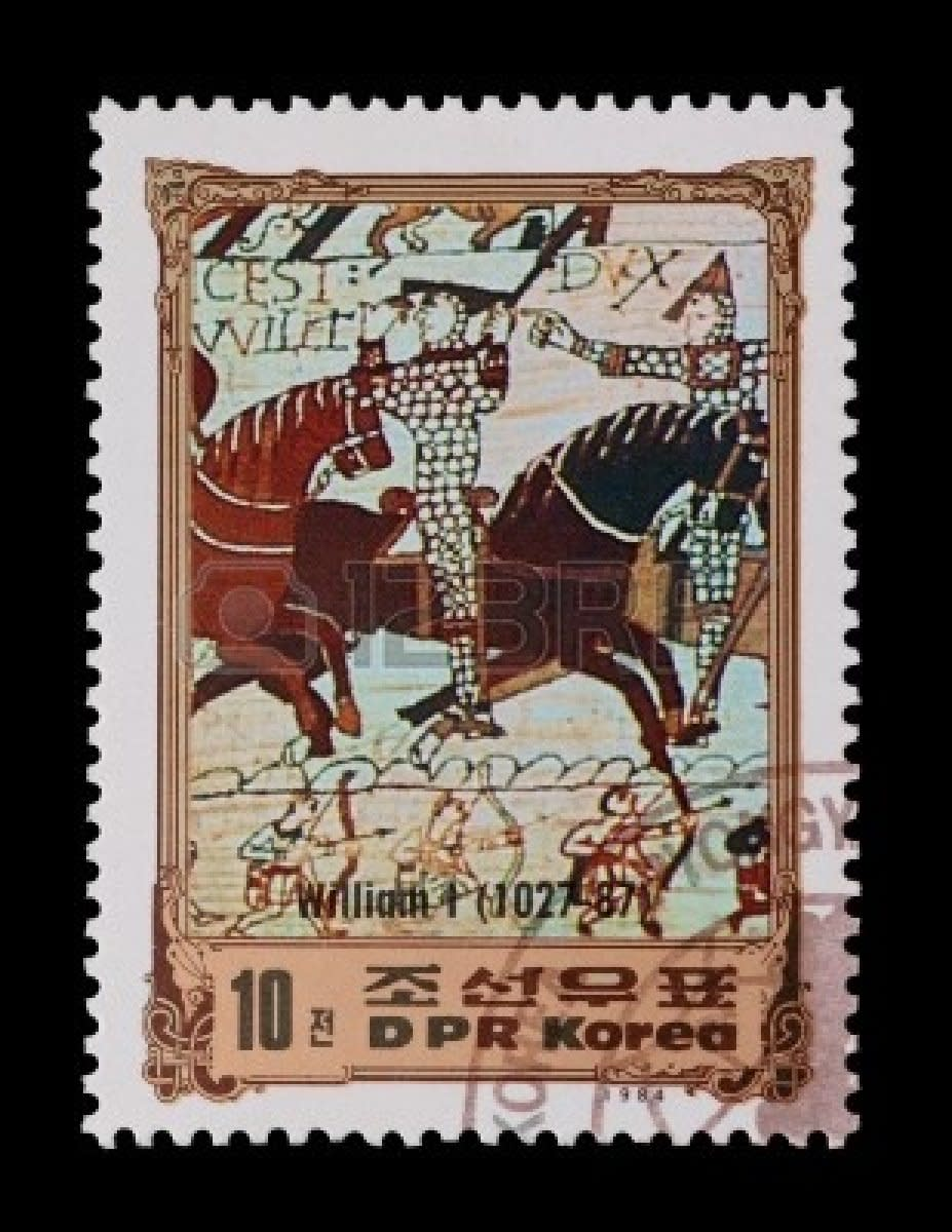 1984 Korean postage stamp issue commemorating Duke-King William's life - is this what Kim-Il Sung aspired to?