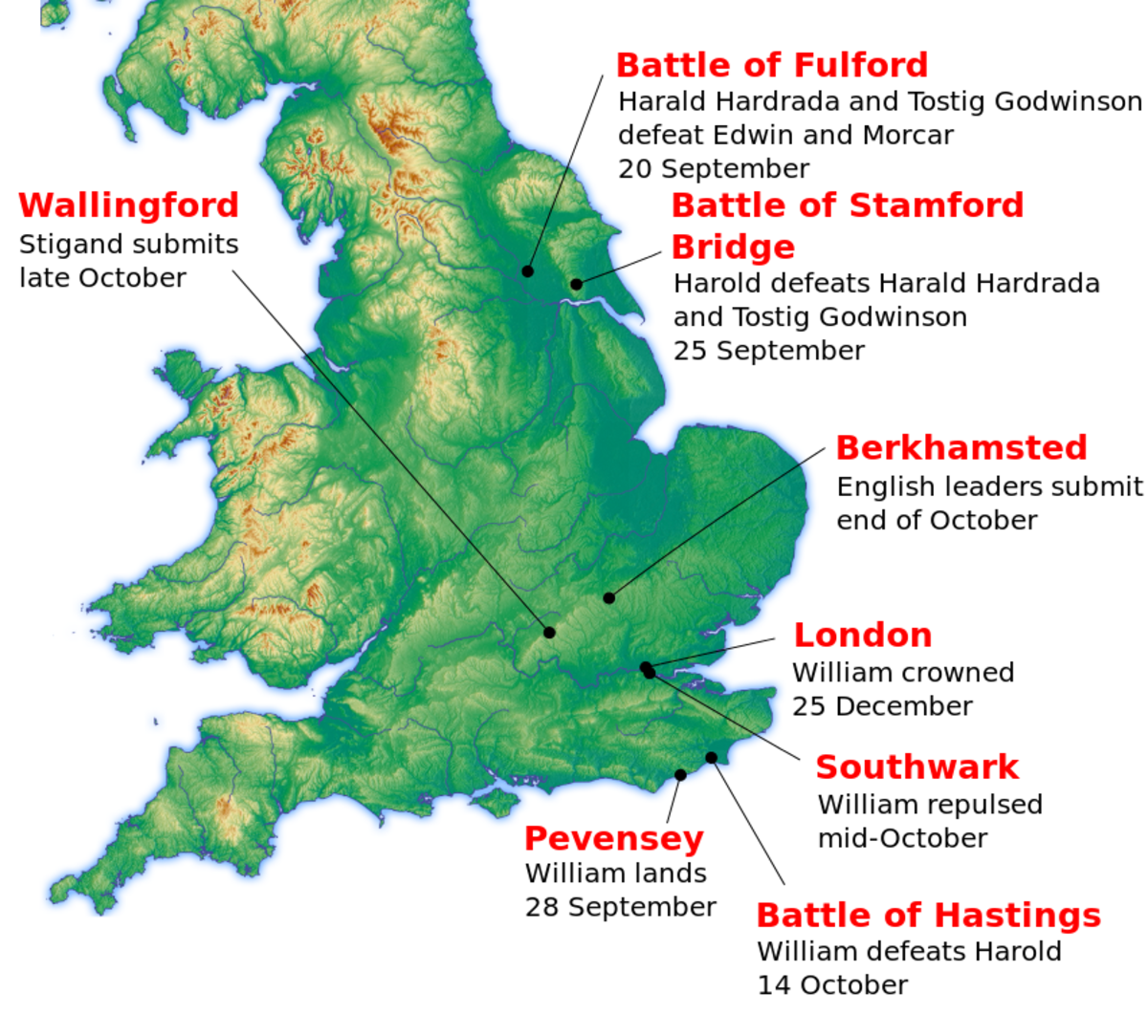 Timeline 1066. The battle on Caldbec Hill preceded two more that year. The first on the Southwark end of London Bridge cost William dear, (could have cost more if news of his defeat had spread). The other, unconfirmed, he won in the City of London