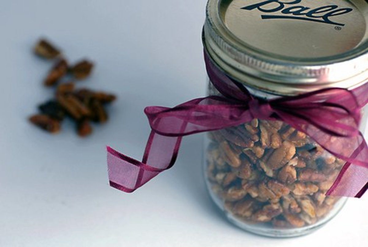 Not just Thanksgiving appetizers, spiced sugar pecans make great gifts, too! credit: elana's pantry @flickr