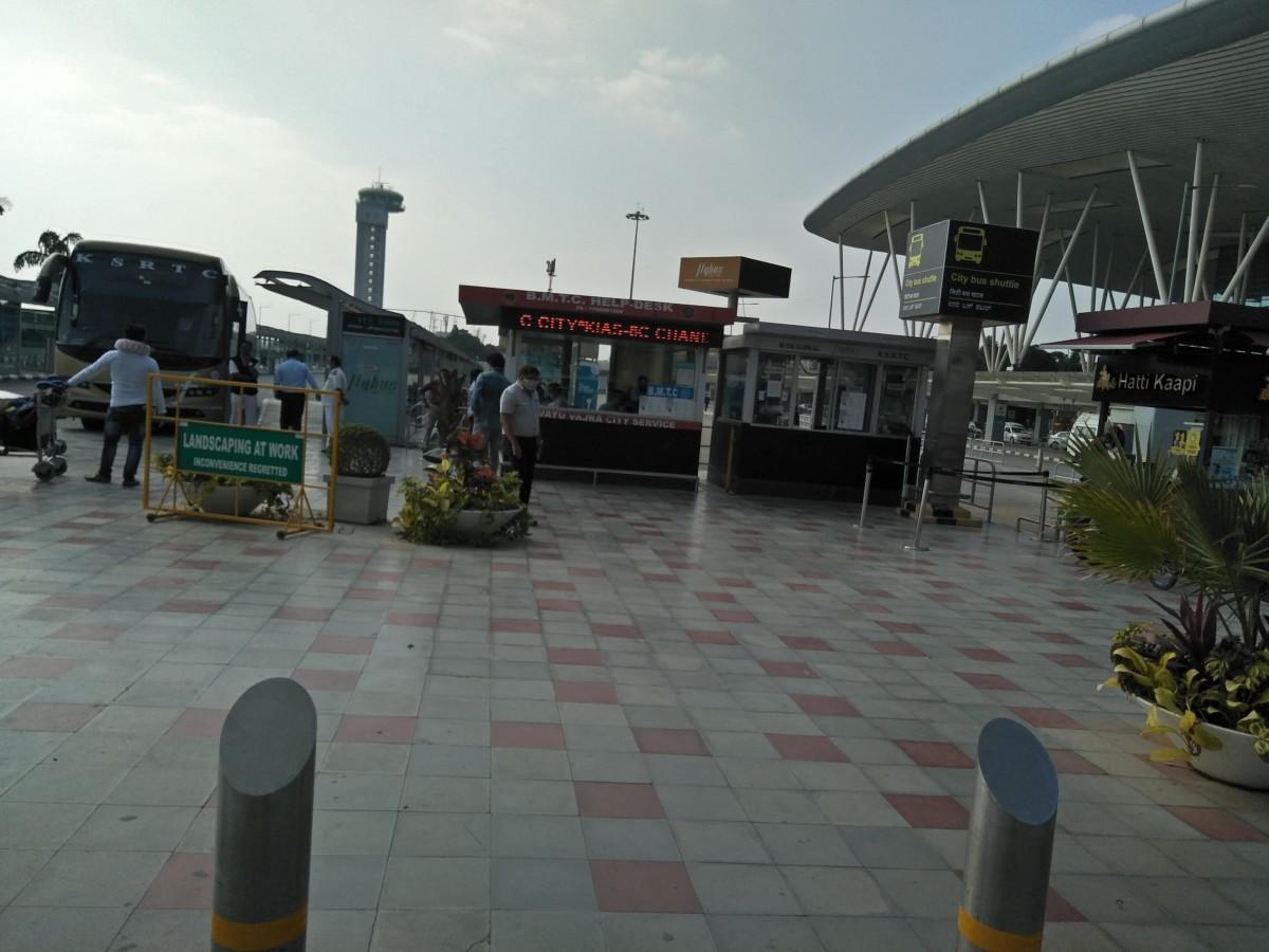 BMTC's Information Desk located at BMTC Bus Terminal in Bengaluru's Kempegowda International Airport