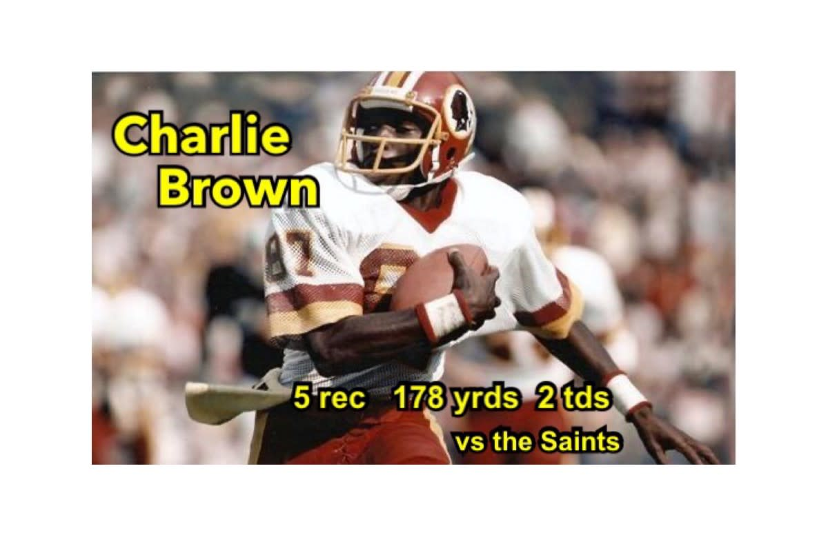 Charlie Brown caught touchdown passes of 57 and 58 yards