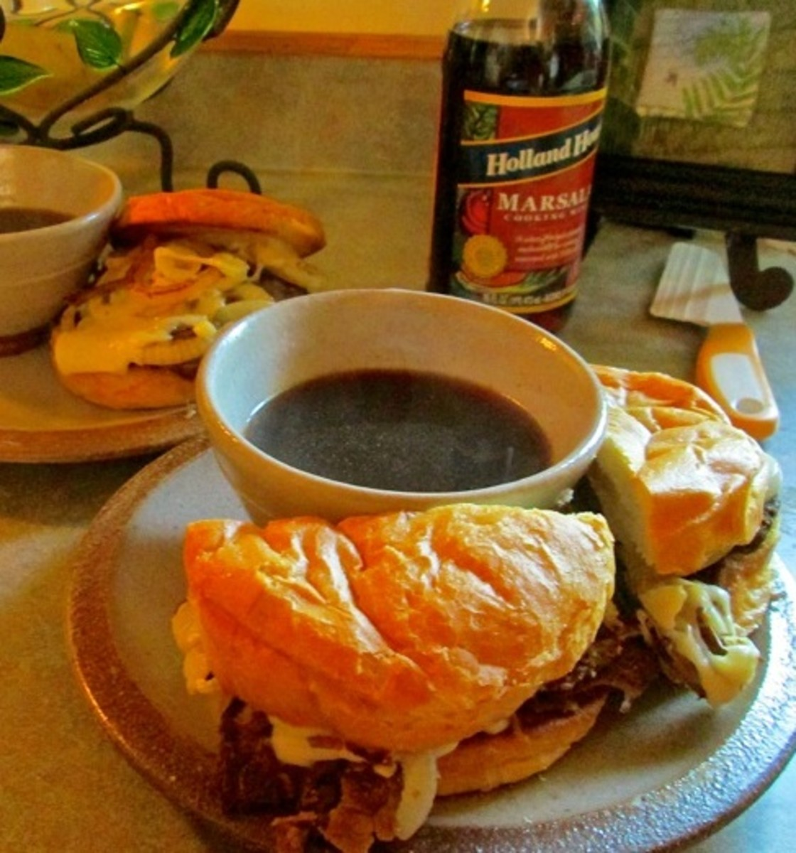 Quick Easy French Dips Recipe with Marsala Cooking Wine