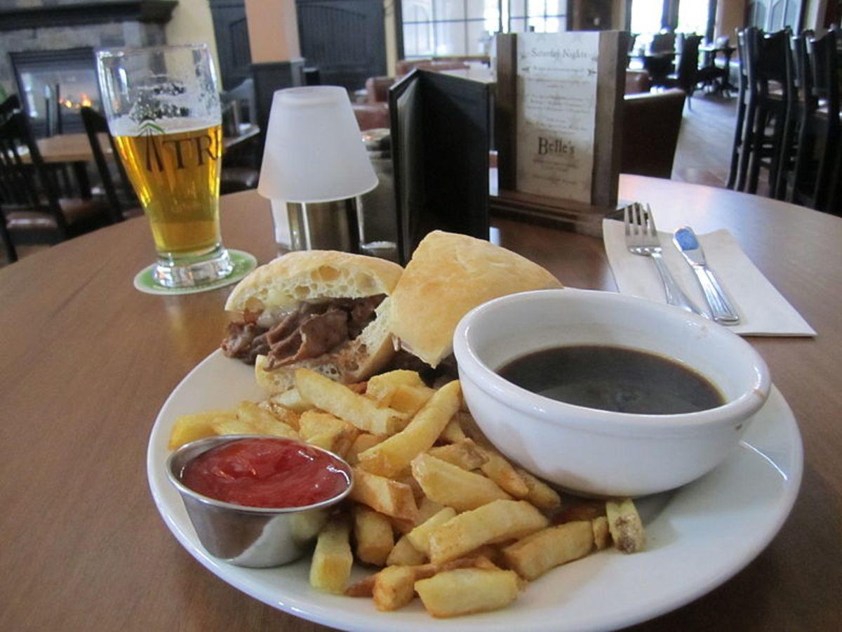 Roast Beef Dip Lunch.