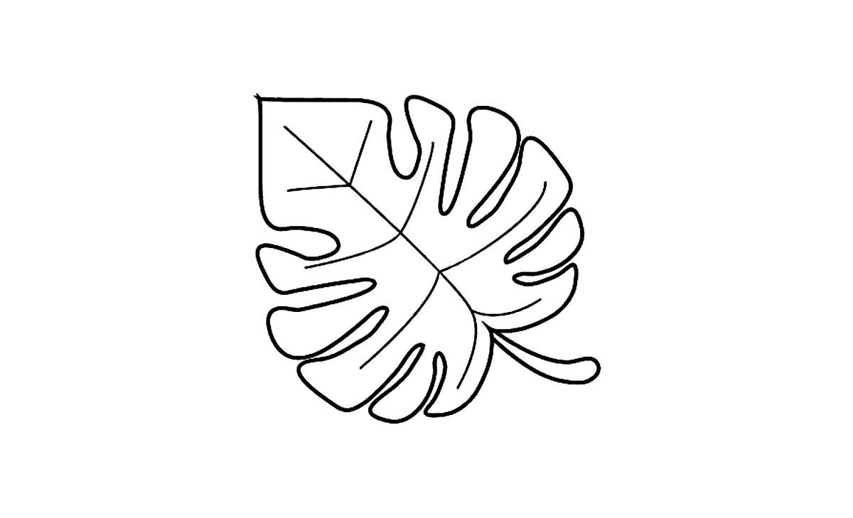 A continuous contour.