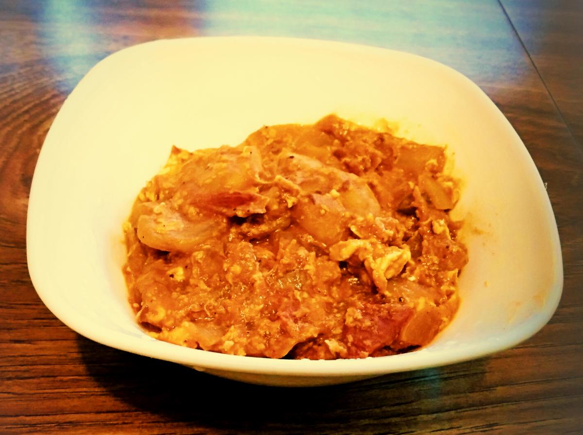 Prawn egg masala