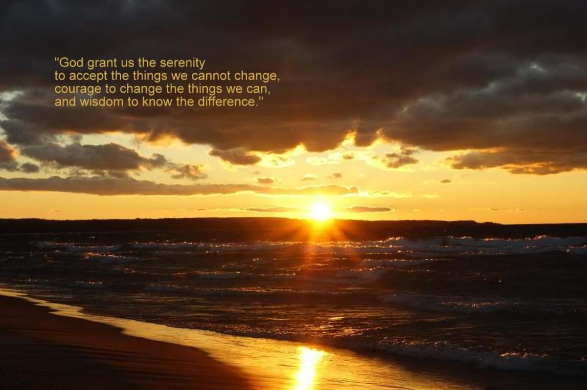 Alcoholism:  The Serenity Prayer Written by Reinhold Niebuhr, the Power of AA