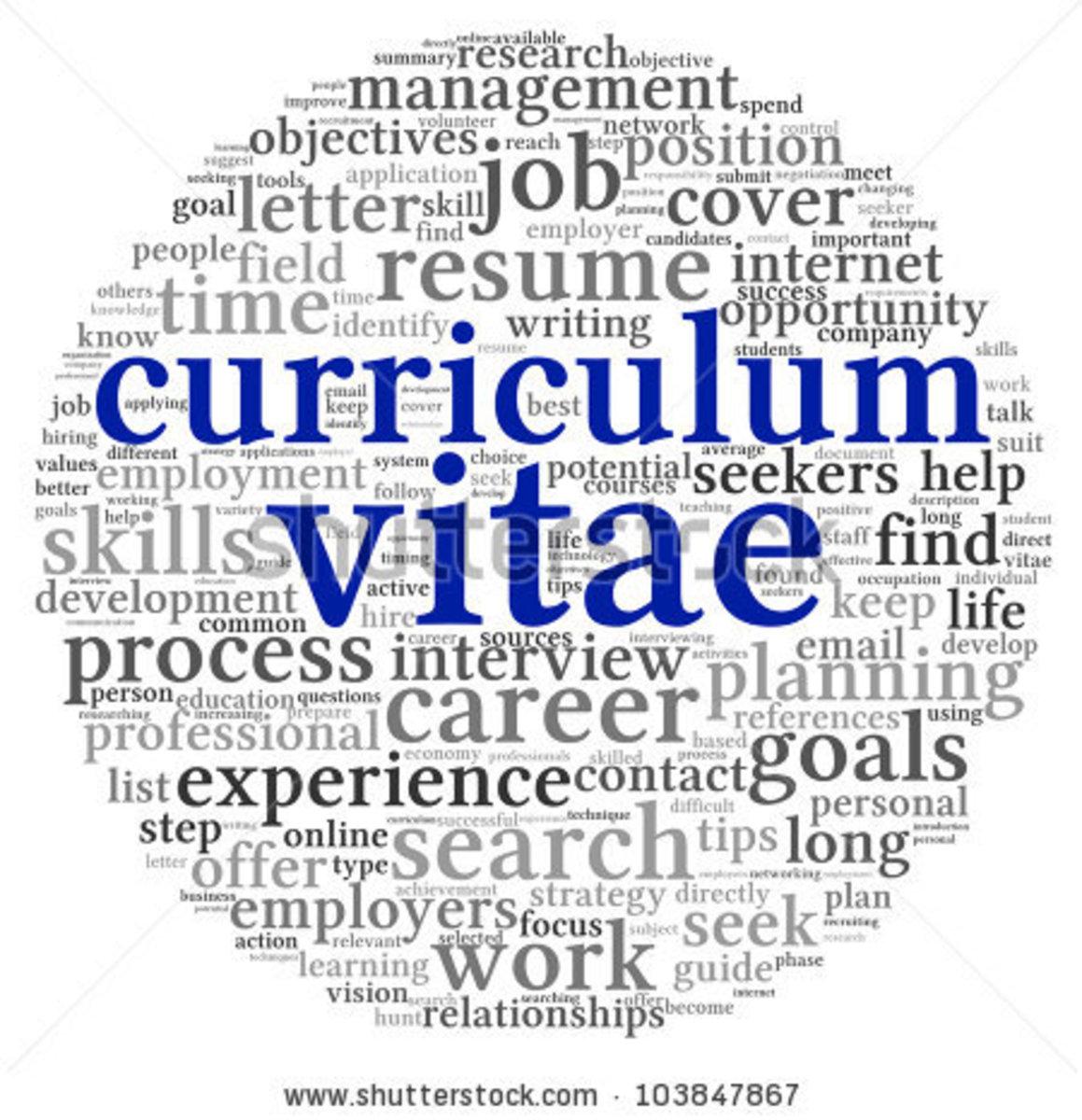 CV for Online Teaching