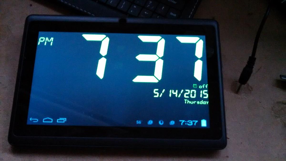 Tablet Computer Alarm Clock