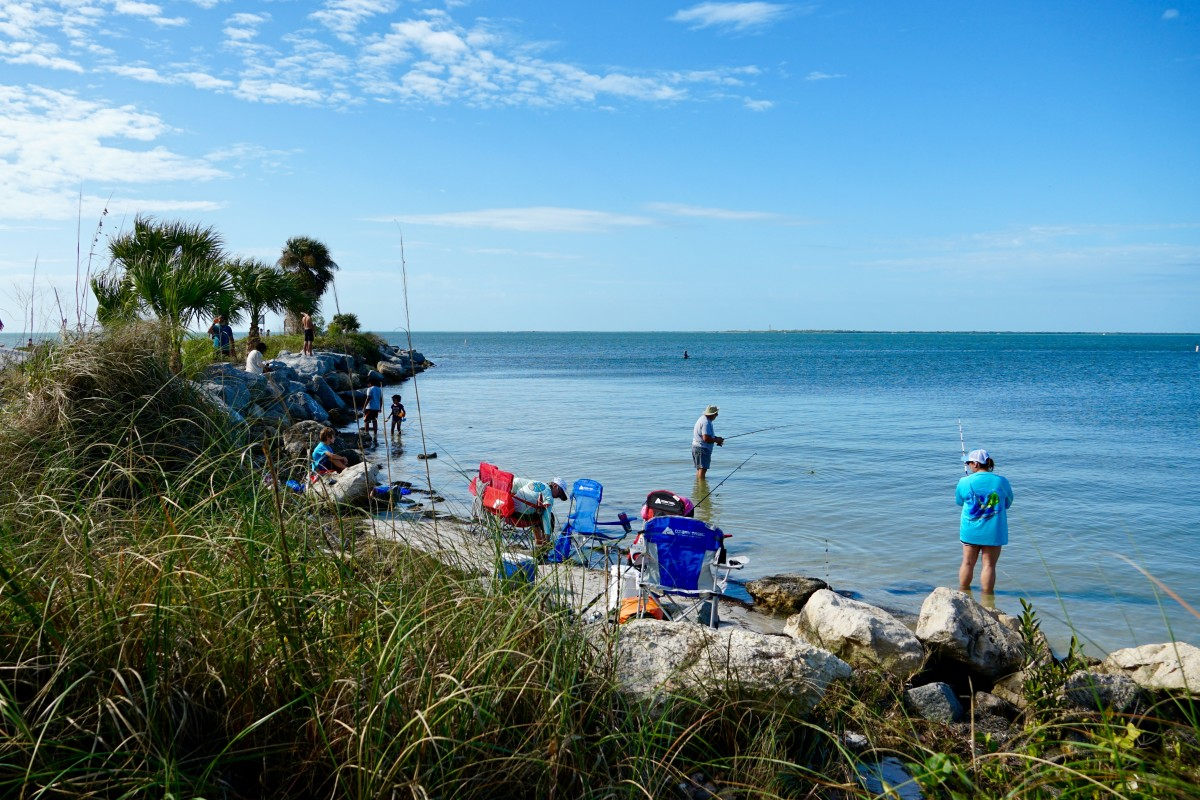 You can fish off the causeway or find a spot on the north side of the island