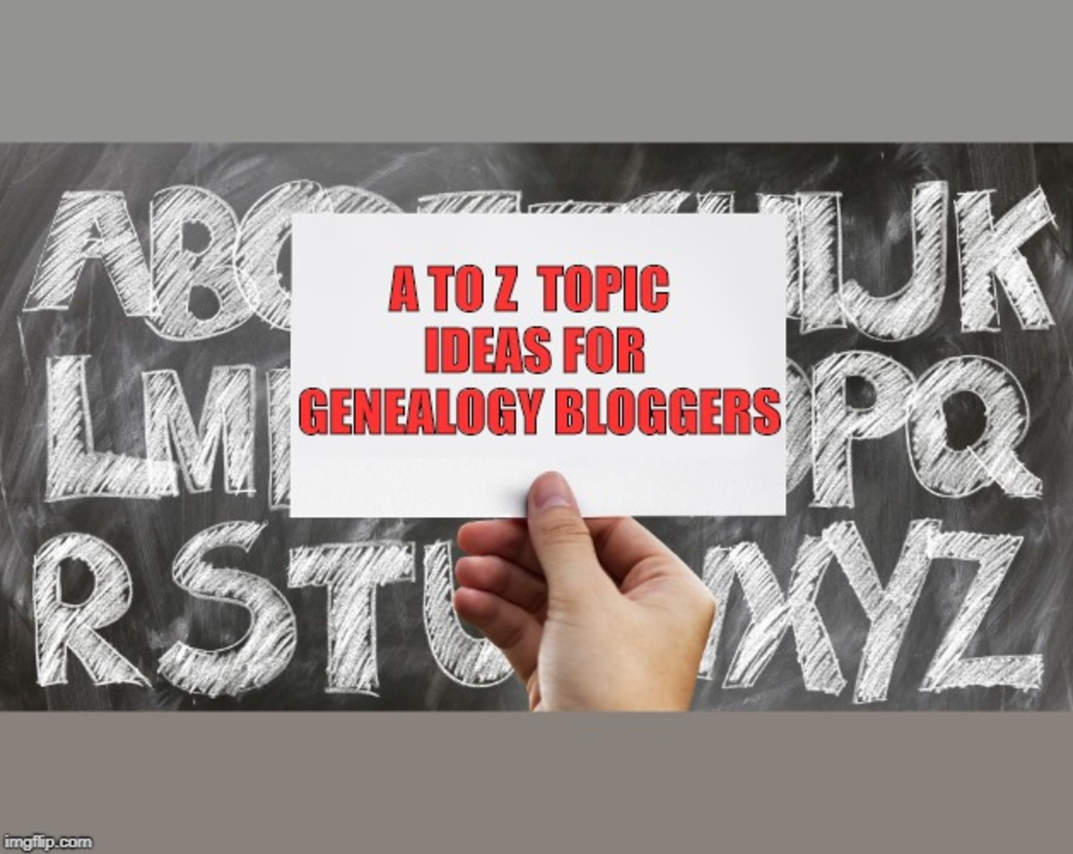 A to Z Topic Ideas for Genealogy Bloggers