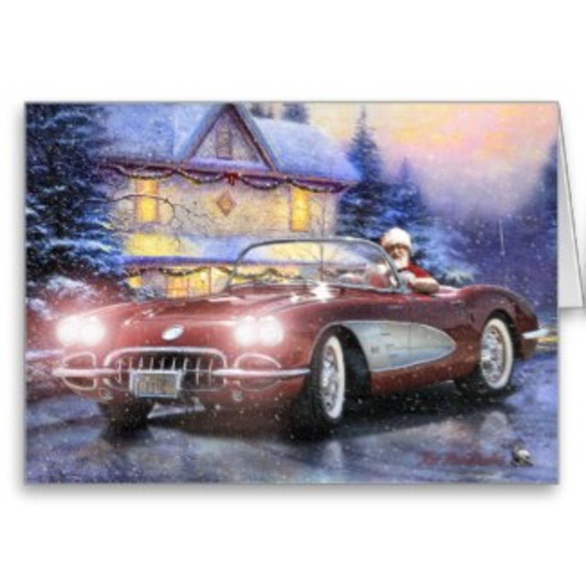 I wish Santa were bringing this Corvette to my house.