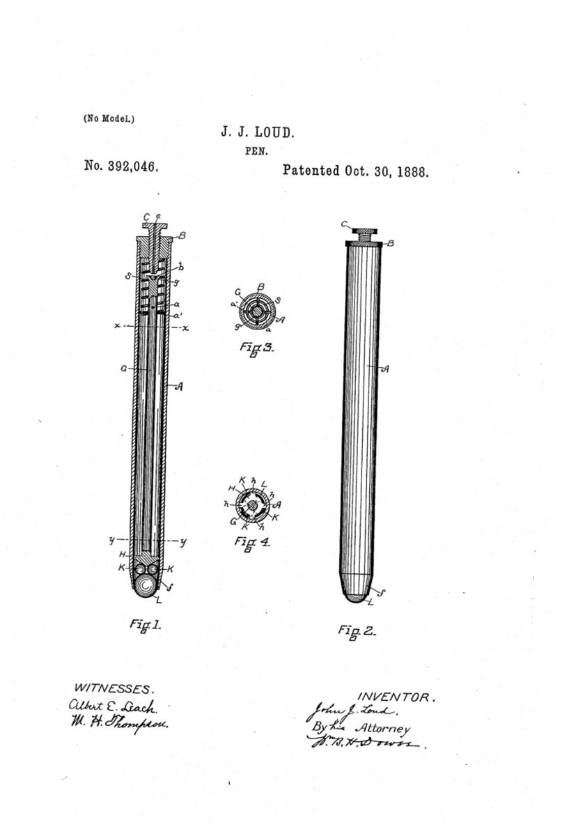 John Loud's patented design.
