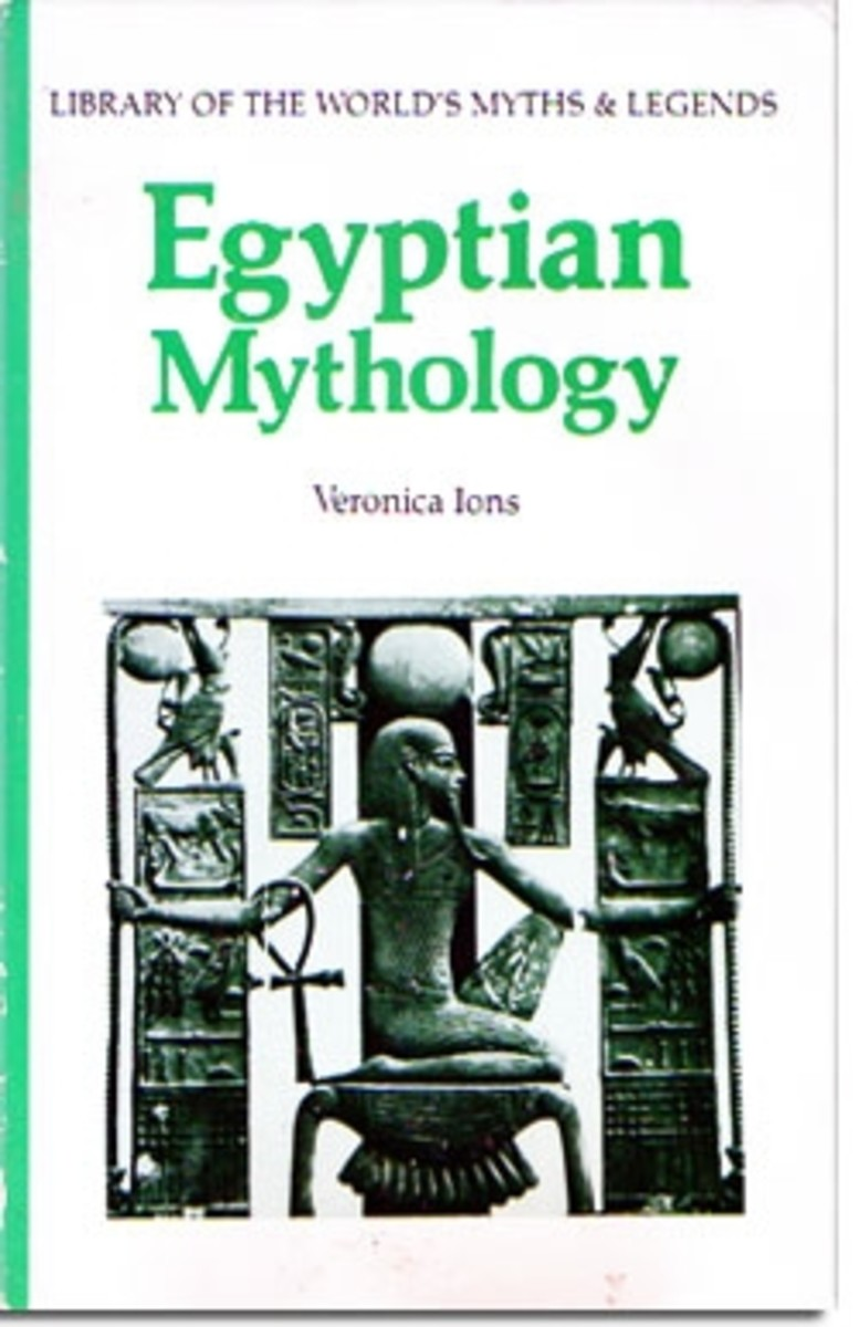 Veronica Ion's Egyptian Mythology. one of my favorite reference books (this is the cover art on my edition; see below for the 1991 edition's cover)