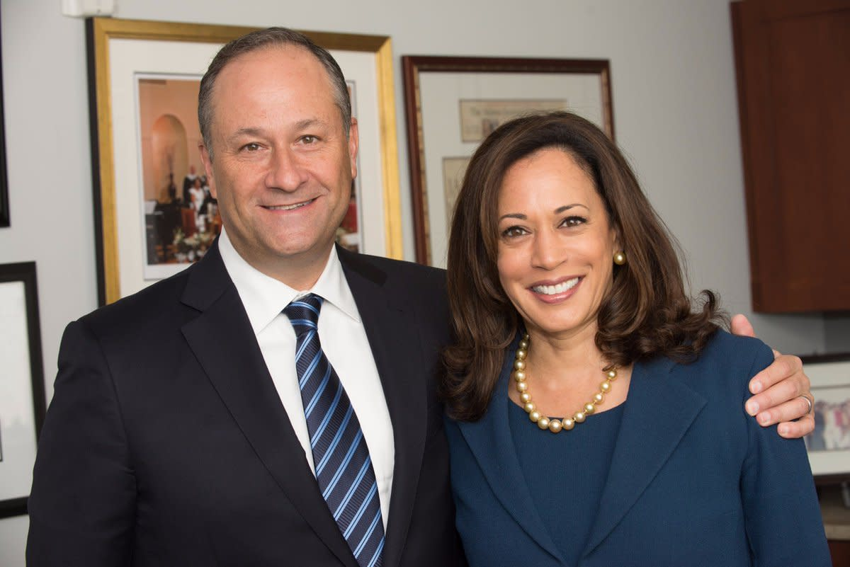 Kamala Harris with husband Douglas Emhoff