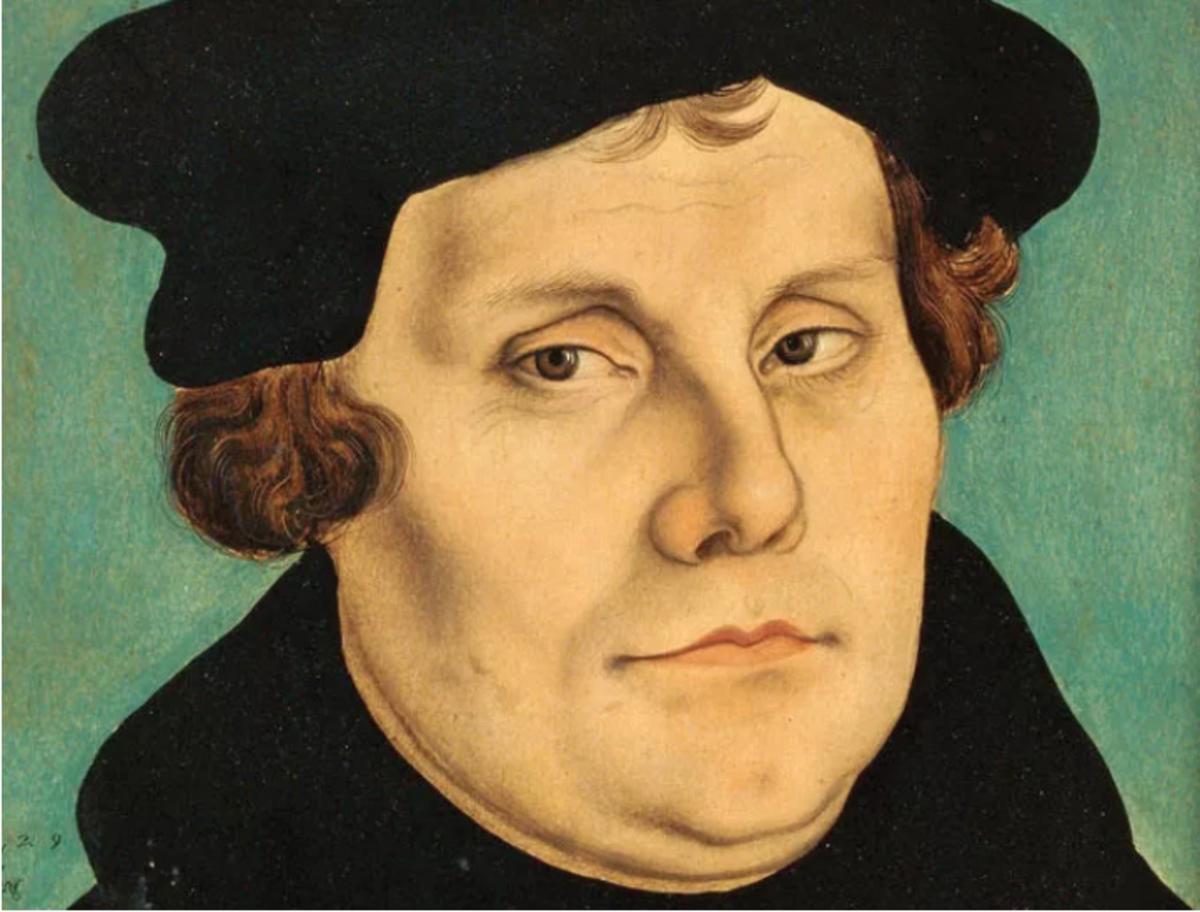 Martin Luther (portrait by Lucas Cranach the Elder)