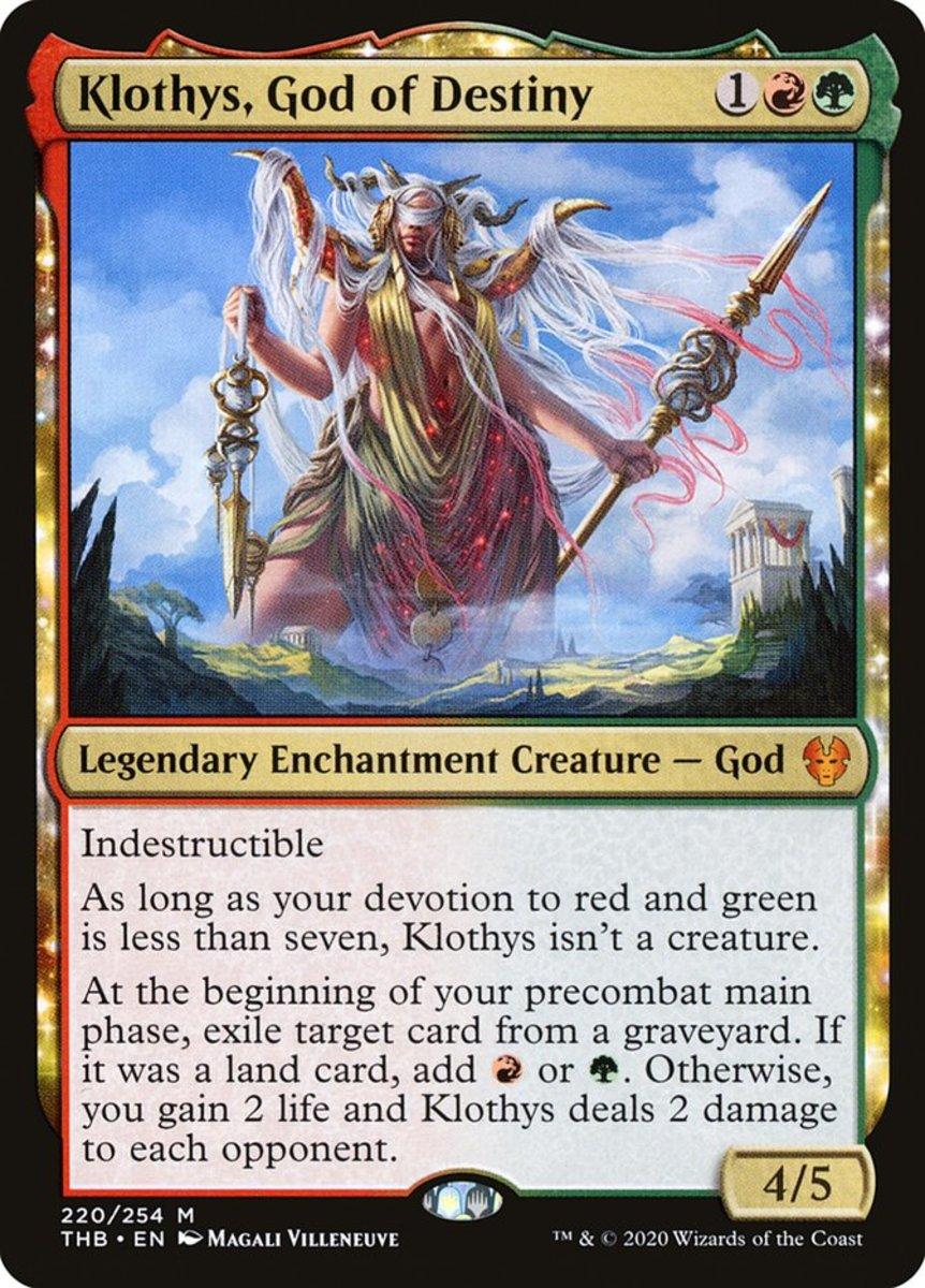 Klothys, God of Destiny mtg
