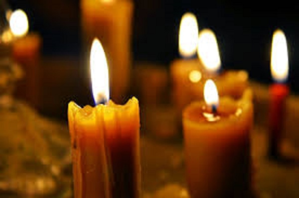 Relaxing scented candles can help the mood.