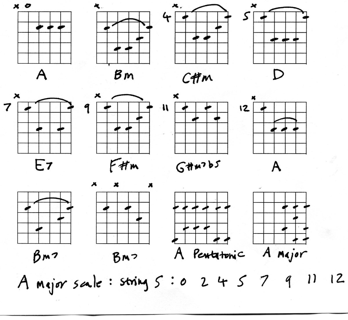 Guitar Chords and harmonised scales