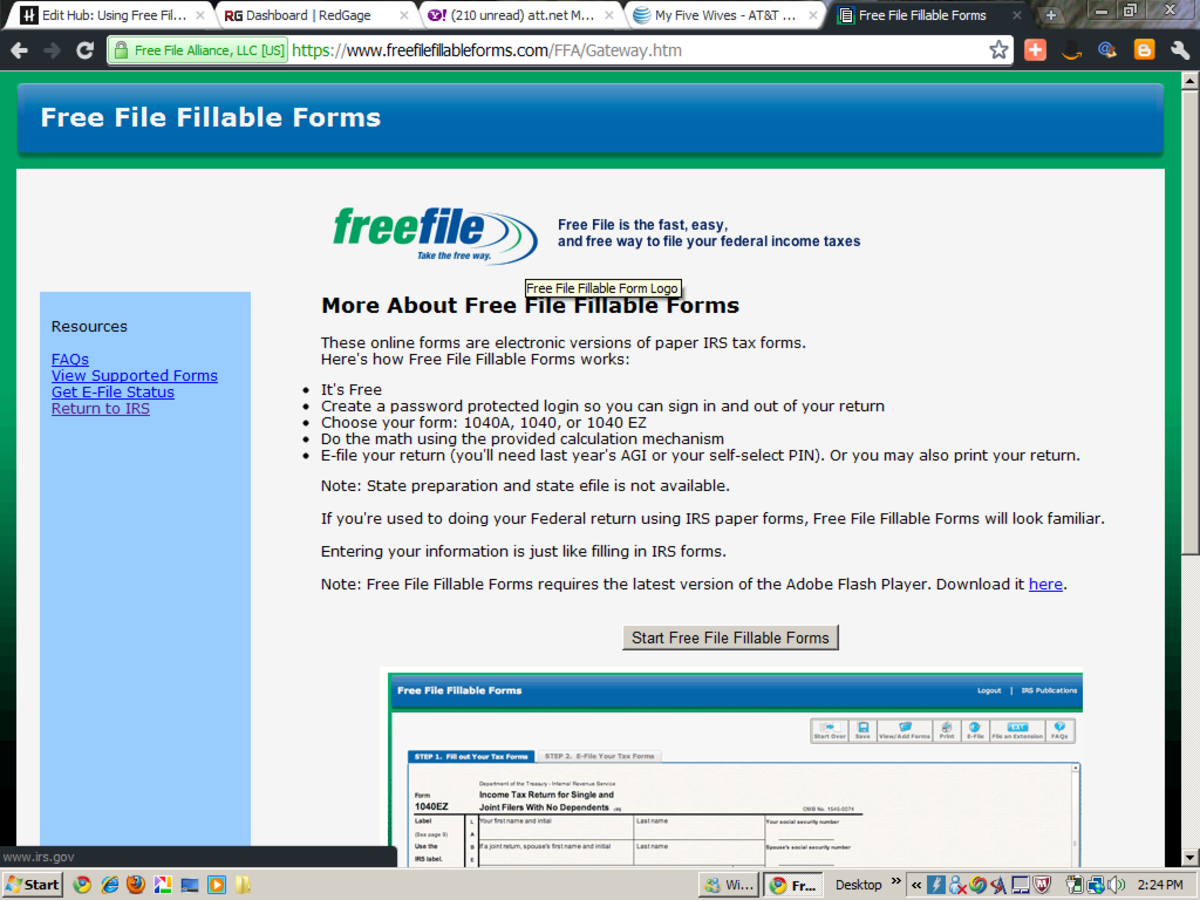 A snapshot of the FFFF Free File Fillable Forms!