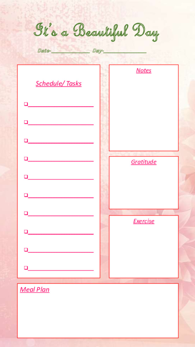 Daily Journal-Template 3