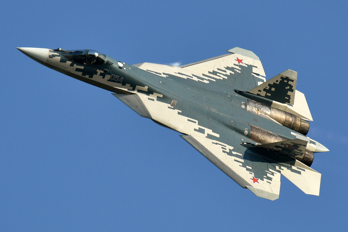The SU-57, a better fighter than the J-20.