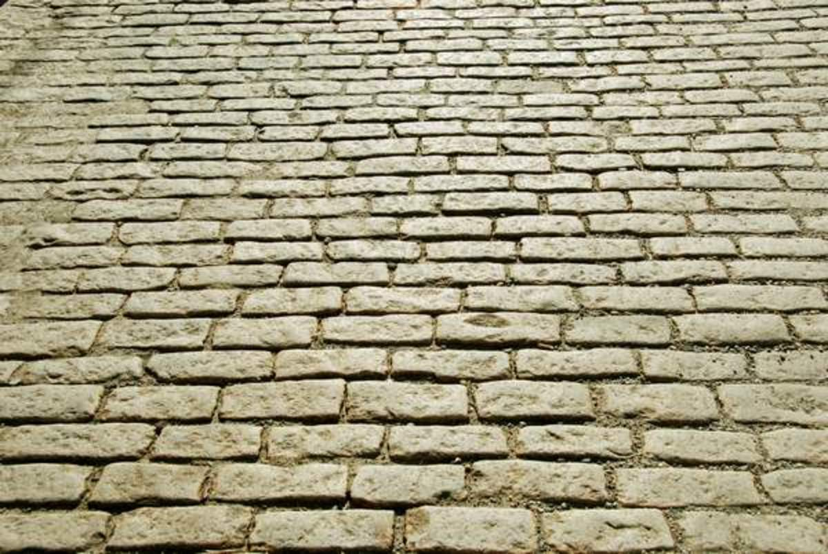 Original Cobblestone Street - See how well they are laid.