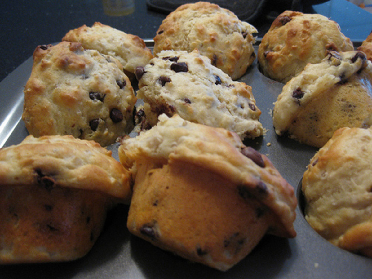 Chocolate chip muffins are one of those not overly sweet quick breads easy to make and delicious to eat.