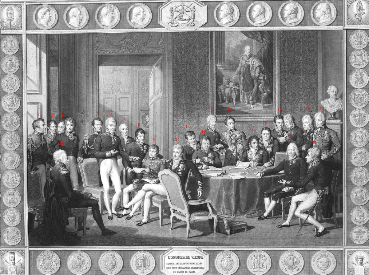 See the source link for the numbered participants at the Congress of Vienna.