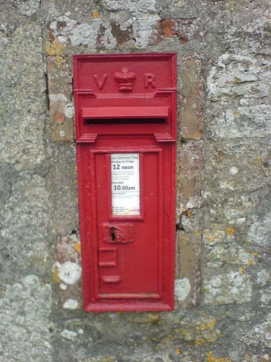 Antique Architectural Post Boxes: A Victorian Post Box in Cornwall.