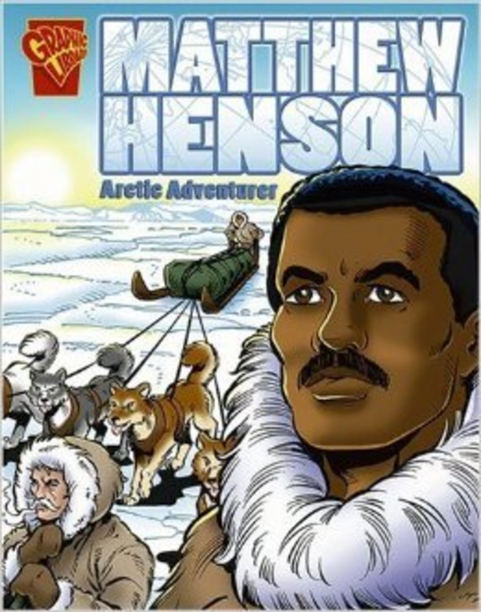 Matthew Henson: Arctic Adventurer (Graphic Biographies) by Blake A. Hoena - Image is from amazon.com