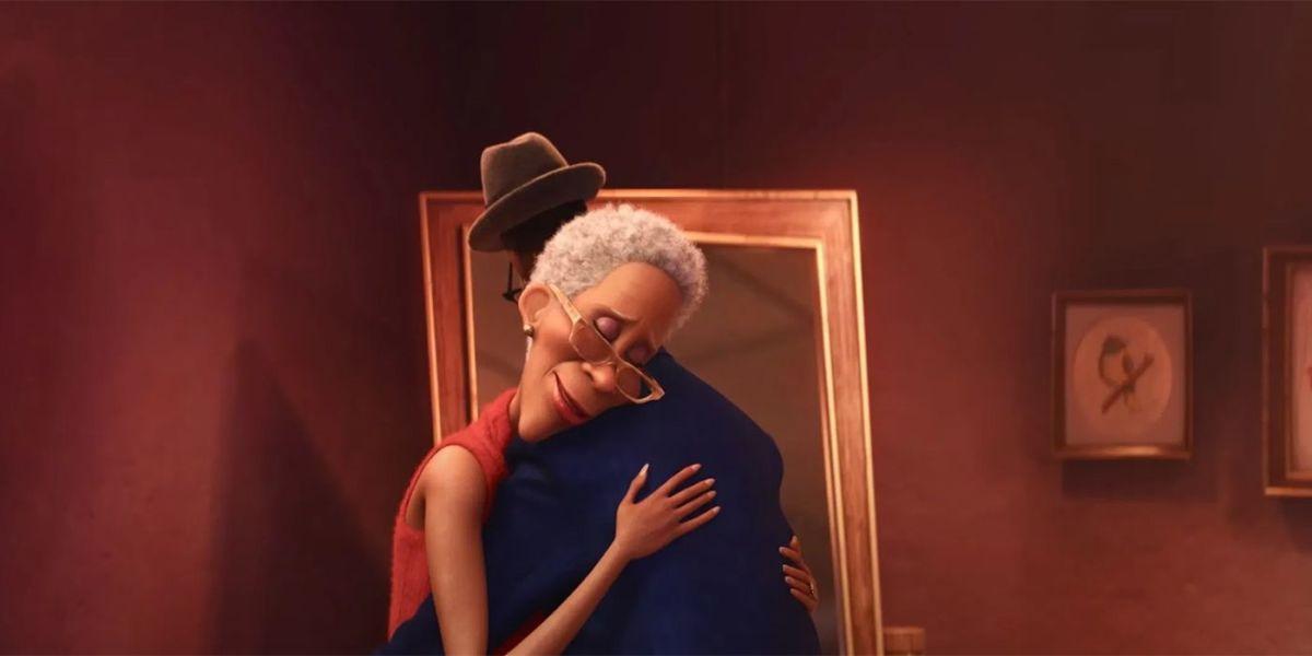 Joe hugging his mother Libba