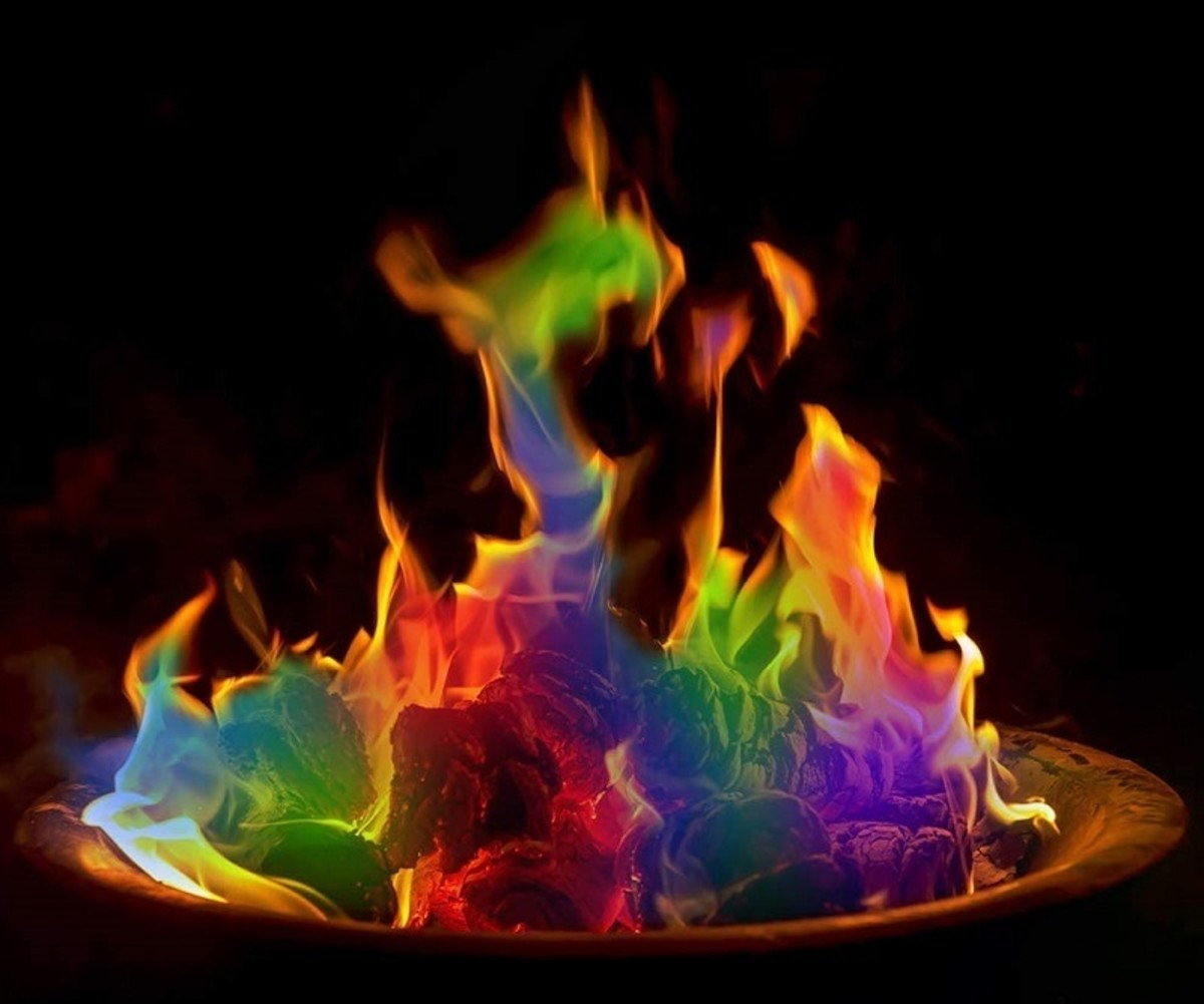 Burning a fire colorant creates a mystical color changing flame in your fireplace.