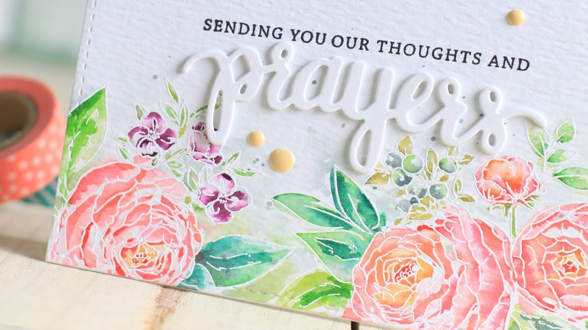You can get beautiful soft tones using distress inks to water color