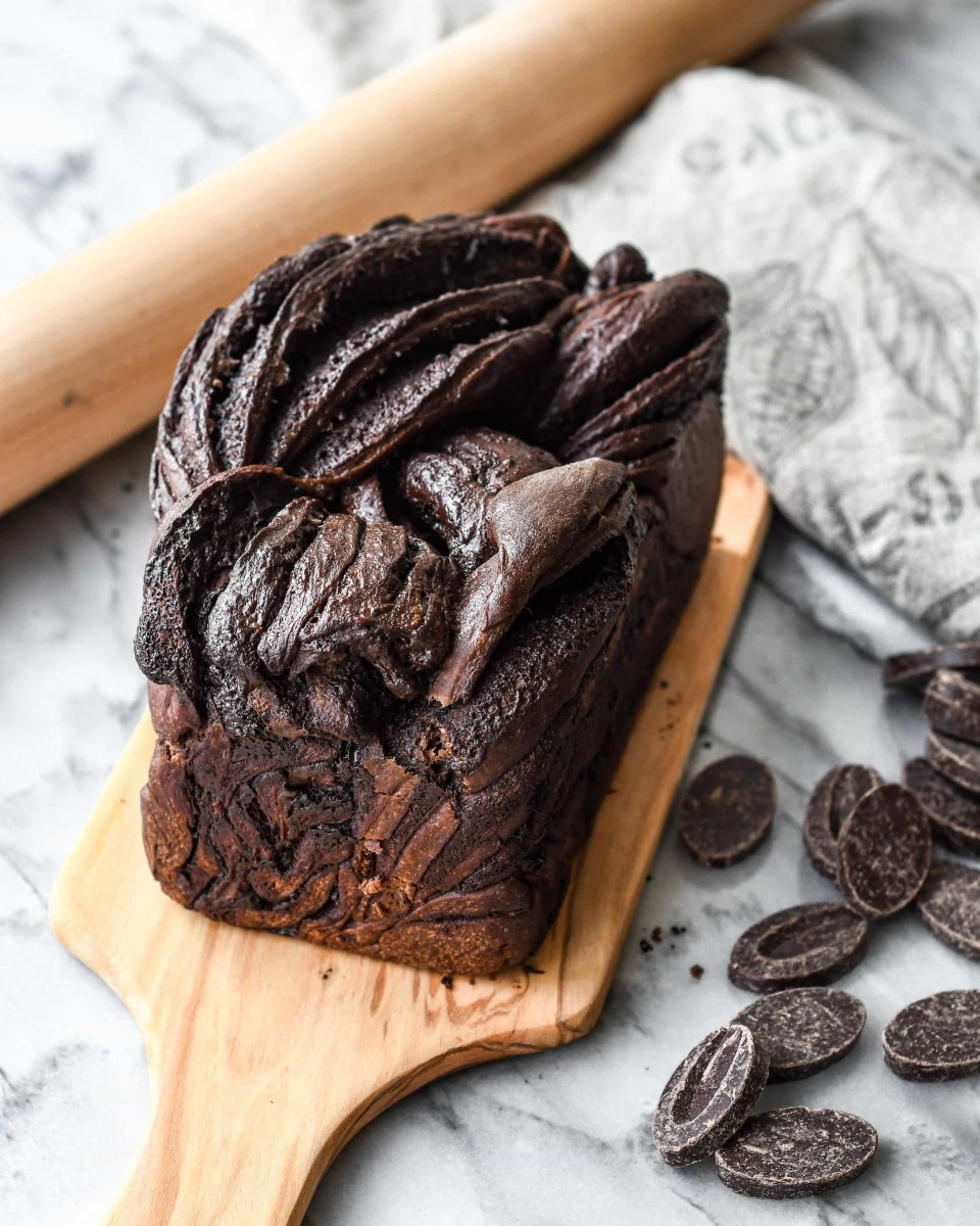 Double chocolate babka