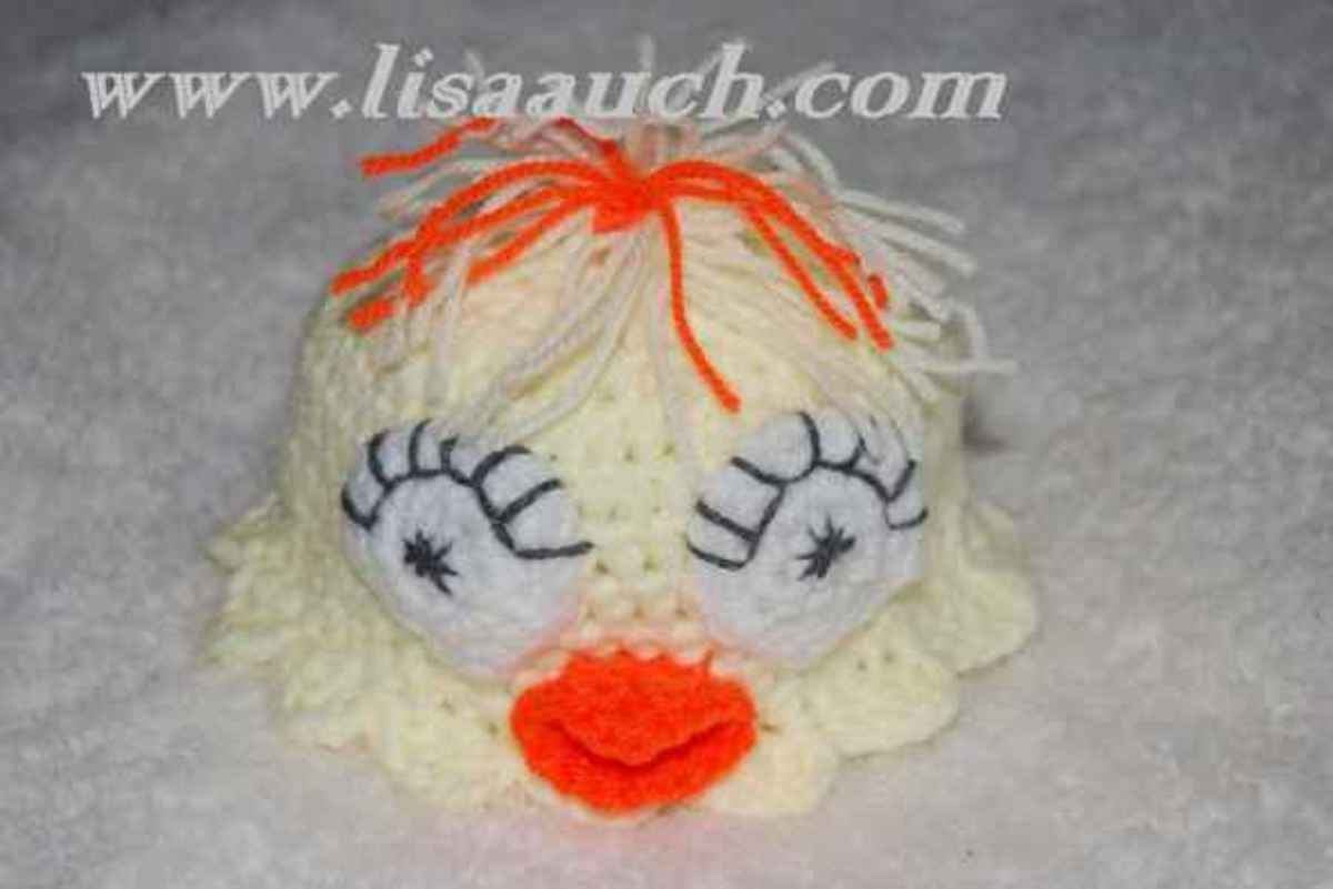 Easter Chick Hat Free Crochet Pattern