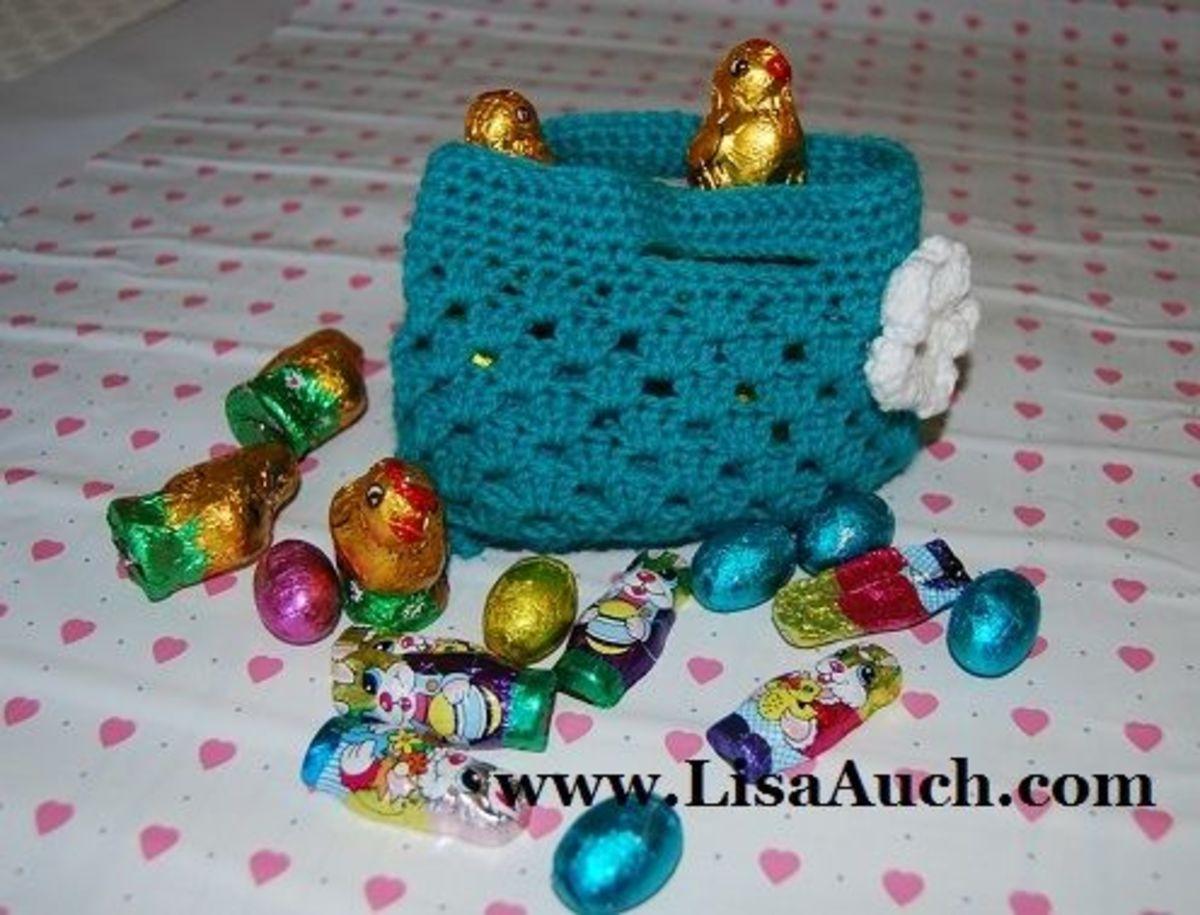 Easter crochet -Easter baket
