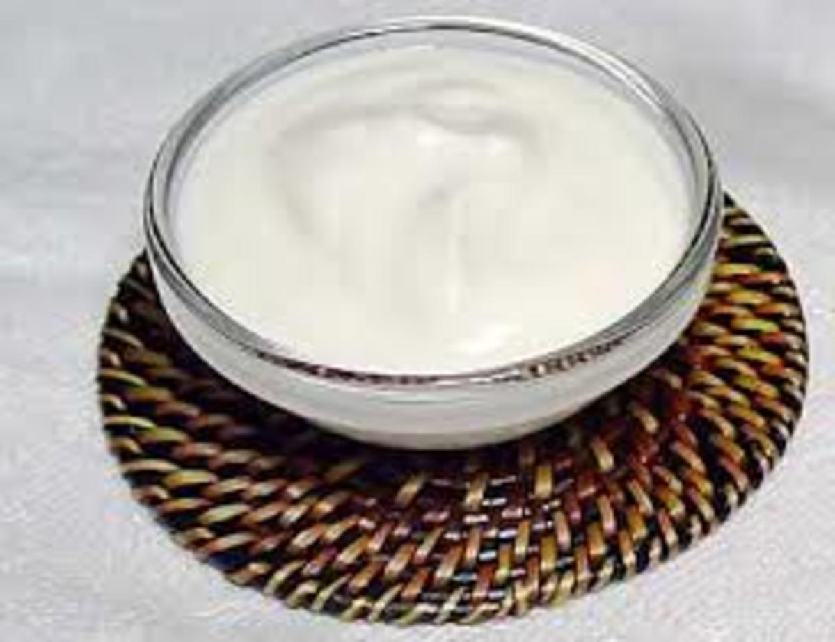 yoghurt for hair growth and shine