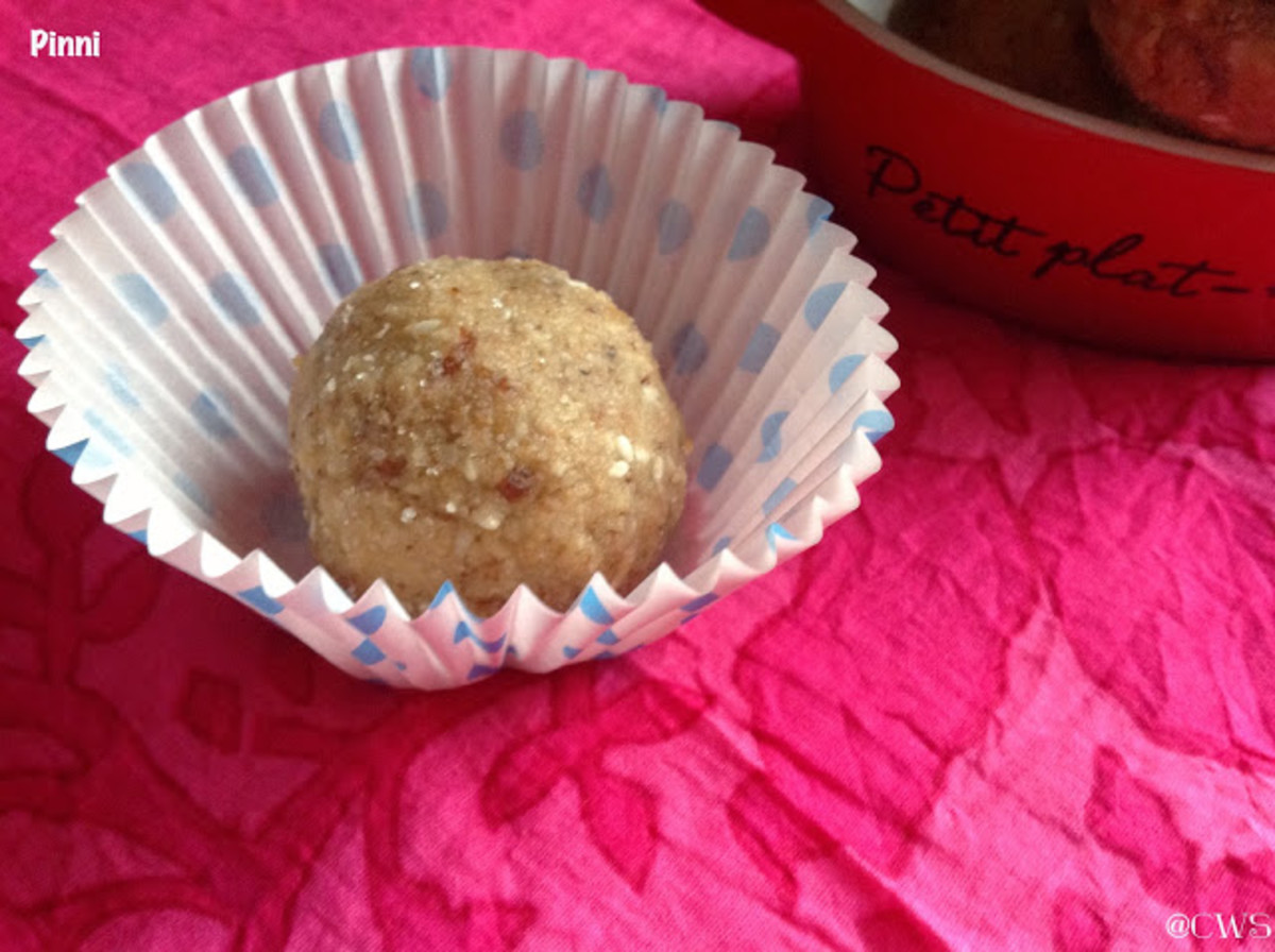 Pinni, a sweet made of wheat flour, evaporated milk & dry fruits