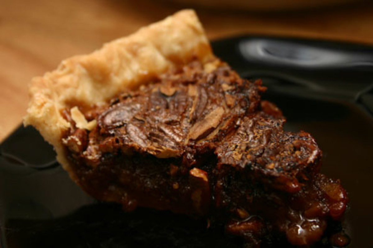 a slice of Southern pecan pie