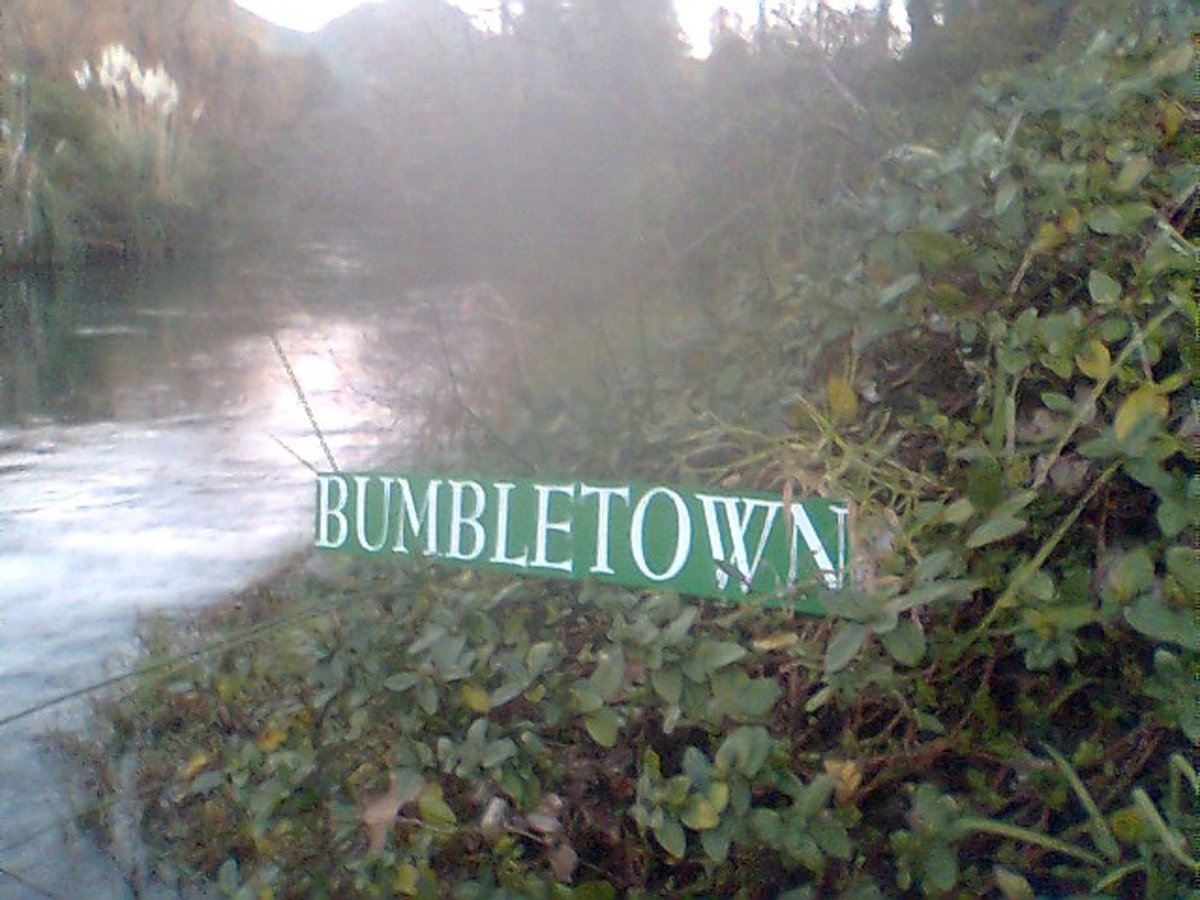 Bumble Town – NZ: Secret Fishing Spots: I'd Like to Help You Out Mate! Which Way Or Door Did You Come In?