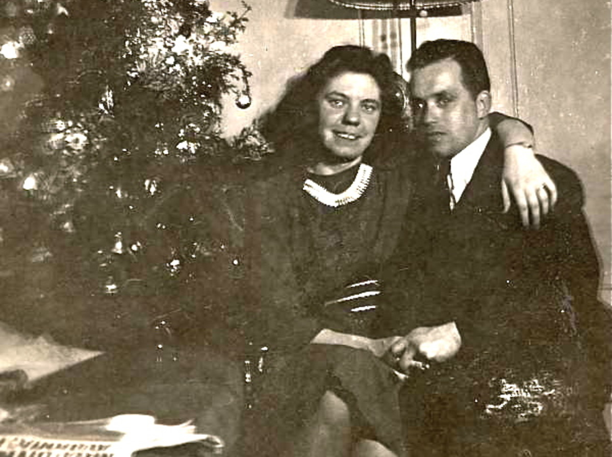 Francie and Steve on New Year's Eve 1940.