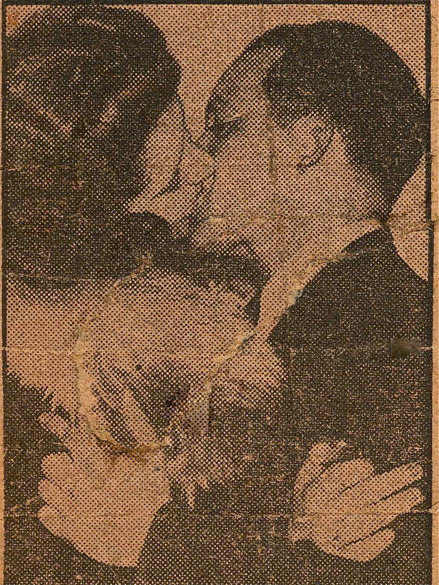 News clipping from New York Daily News. Jan. 1, 1941. Frances Sliwa and Stephen Popick last couple to be wed in 1941.