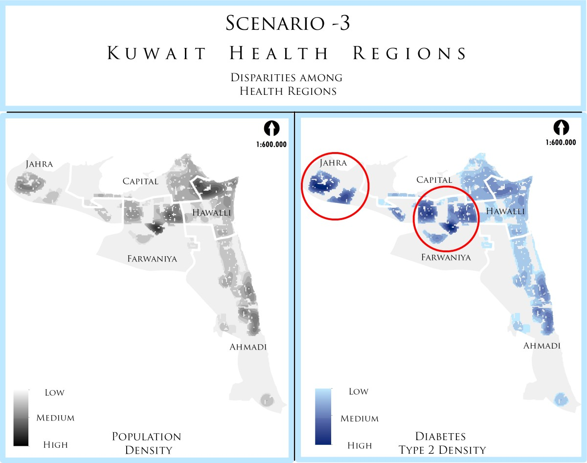 Disparities among Health Regions